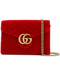 Gucci - GG Marmont Chain Wallet - Lyst