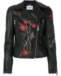 Blugirl Blumarine | Embroidered Biker Jacket | Lyst