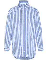 Martine Rose - Drawcord Stripe Shirt - Lyst