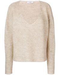 Mauro Grifoni - Drop Shoulder V-neck Sweater - Lyst