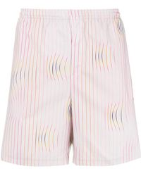adidas - Warped Stripe Swim Shorts - Lyst
