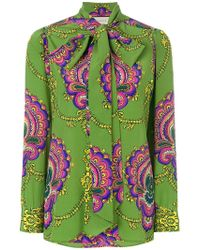 Gucci - 70's Inspired Silk Shirt - Lyst