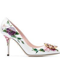 Dolce & Gabbana - Bellucci Peony Print Pumps - Lyst