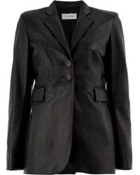 Wales Bonner - Fitted Leather Jacket - Lyst