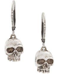 Werkstatt:münchen - Skull Drop Earrings - Lyst