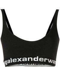 069dbccfa9a Lyst - Alexander Wang Lux Ponte Triangle Bra With T Elastic in Black