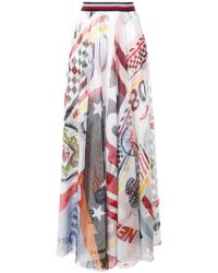Tommy Hilfiger - Victory Tulle Maxi Skirt - Lyst