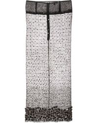 Sophie Theallet - Hand Embroidered Crystal Lace Skirt - Lyst