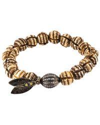 Loree Rodkin - Bead Diamond Ball And Feather Bracelet - Lyst