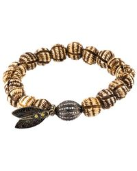 Loree Rodkin - Bead Diamond Ball And Feather Bracelet - Lyst