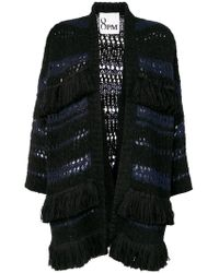 8pm - Fringed Open Cardigan - Lyst