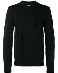 Les Hommes - Distressed Detail Sweater - Lyst