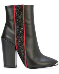 Amiri - Glitter Stripe Ankle Boots - Lyst