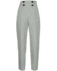 Sara Battaglia - High-waisted Pleated Trousers - Lyst