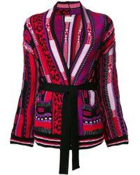 Laneus - Belted Cardi-coat - Lyst