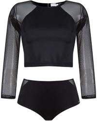 778bd3b7bb4 Brigitte Bardot - Cropped Top And Hot Pants Set - Lyst
