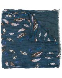 John Varvatos - Painted Feather Scarf - Lyst