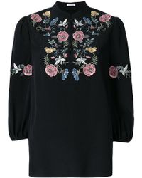Vilshenko - Embroidered Flower Top - Lyst
