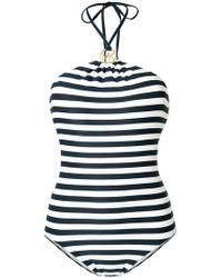 MICHAEL Michael Kors | Striped Swimsuit | Lyst