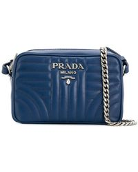Prada - Diagramme Quilted Crossbody Bag - Lyst
