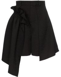 ShuShu/Tong - Ruffled High-waisted Shorts - Lyst