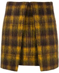 AALTO - Checked A-line Mini Skirt - Lyst