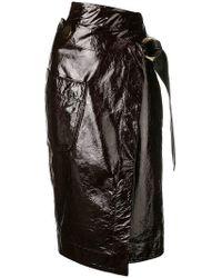 Petar Petrov - Leather Wrap Skirt - Lyst