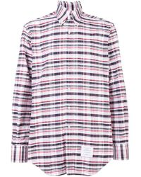 Thom Browne - Classic Checked Shirt - Lyst