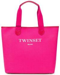 Twin Set - Logoed Heart Tote Bag - Lyst