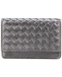 Bottega Veneta - Interlaced Leather Wallet - Lyst