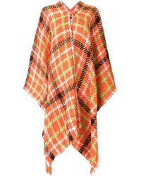 Boutique Moschino - Checked Poncho - Lyst