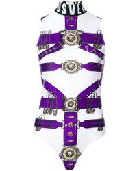 Versus - Heritage Harness Print Sleeveless Bodysuit - Lyst