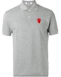 Play Comme des Garçons - Elongated Heart Polo Shirt - Lyst