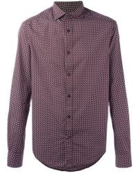 Armani Jeans - Patterned Shirt - Lyst