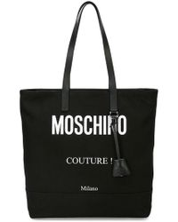 Moschino - Logo Print Tote Bag - Lyst