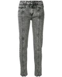 f1f2a0a0526 Givenchy - Vaqueros de talle alto con rayo - Lyst