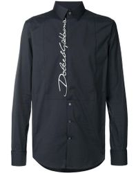 Dolce & Gabbana - Embroidered Logo Shirt - Lyst