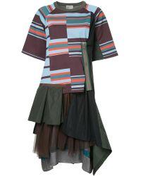 Kolor - Layered T-shirt Dress - Lyst