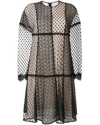 Giamba - Embroidered Sheer Layer Dress - Lyst