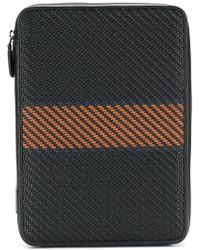 Ermenegildo Zegna - Pelle Tessuta Laptop Bag - Lyst