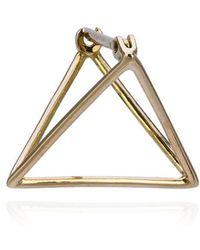 Shihara - 15mm Triangle Earring - Lyst