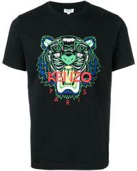 b7086466 KENZO - Tiger Print T-shirt - Lyst