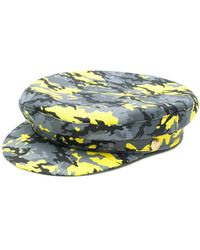 Manokhi - Camouflage Print Biker Hat - Lyst