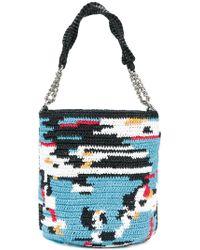 Ermanno Scervino - Woven Bucket Shoulder Bag - Lyst