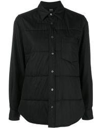 Aspesi - Button Shirt Jacket - Lyst