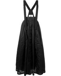 Y-3 - Long Pleated Skirt - Lyst