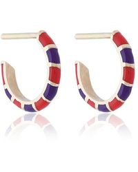 Alice Cicolini - Striped Hoop Earrings - Lyst
