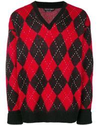 Alexander McQueen - Argyle Knit Sweater - Lyst