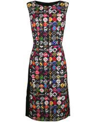 Marc Jacobs - Badge-print Midi Dress - Lyst