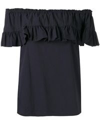 Hache   Ruffled Blouse   Lyst
